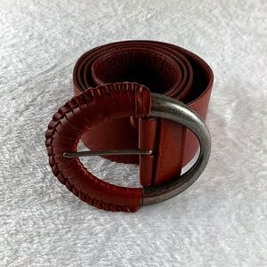 Chico's Genuine Red Leather Belt
